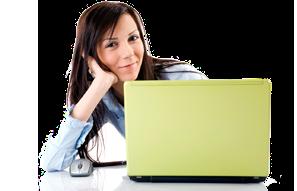 copywriter girl on laptop
