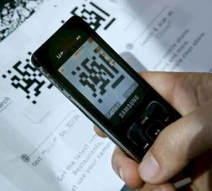 smartphonescanning a qrcode