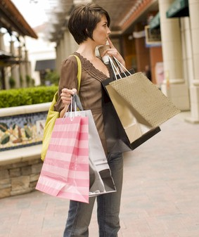 woman  who may be spending too much