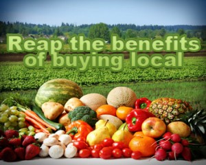 buying from local farmers markets are social