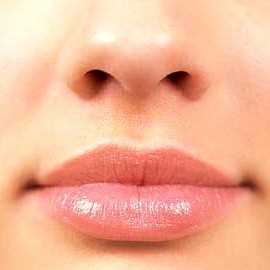 close up look on a womans nose