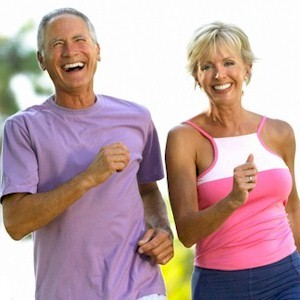 seniors healthy diet with exercise