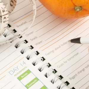 keeping a diary of what you eat