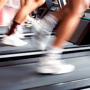 intense training on the treadmill