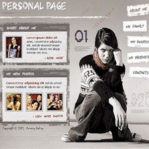 creating a personal website